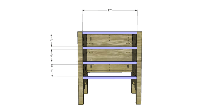 free DIY woodworking plans to build a monterrey side table_Stretchers