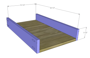 diy desk plans - ainsworth_Sm Drawer BS