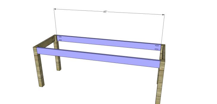 build diagonal slat bench_Side Aprons