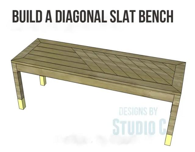 build diagonal slat bench_copy