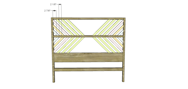 diy bed plans - diagonal QBed_Headboard 3