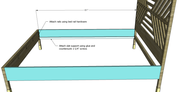 diy bed plans - diagonal QBed_Side Rails