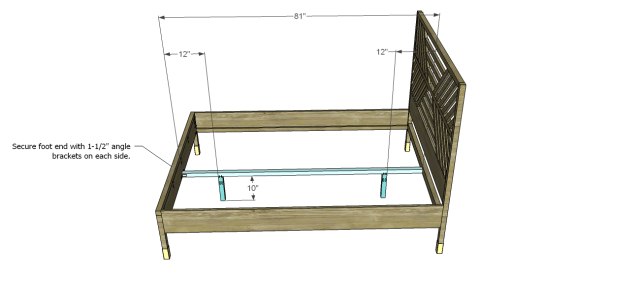 diy bed plans - diagonal QBed_Support
