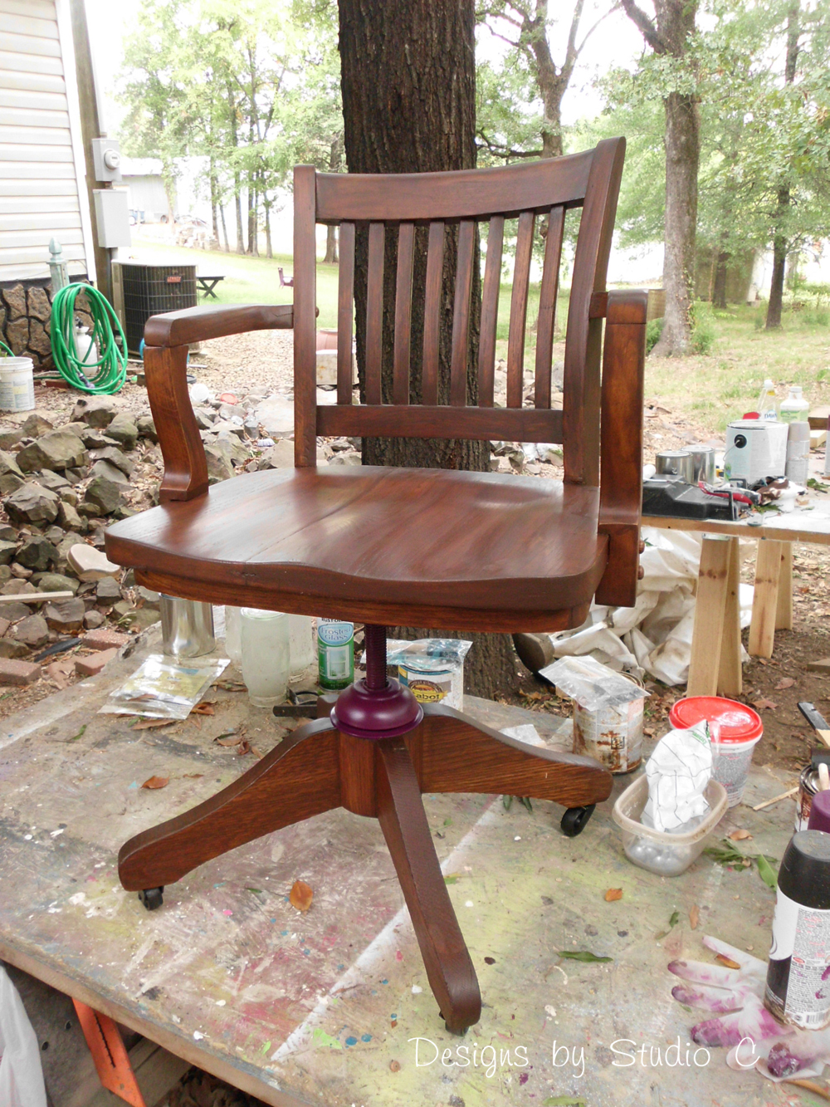 Restoring an Antique Solid Oak Desk Chair \u2013 Designs by Studio C