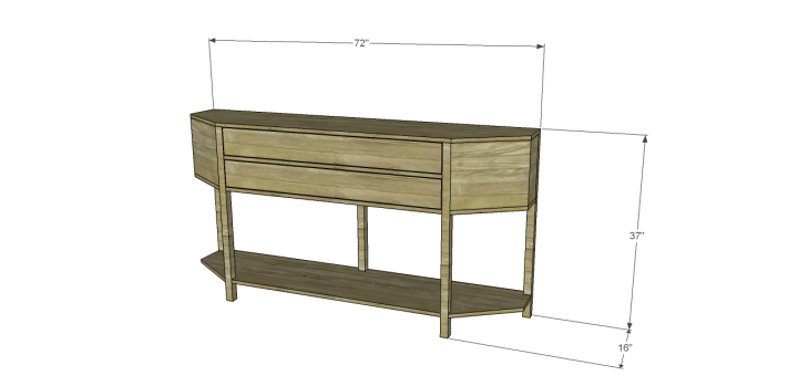 build angled console table
