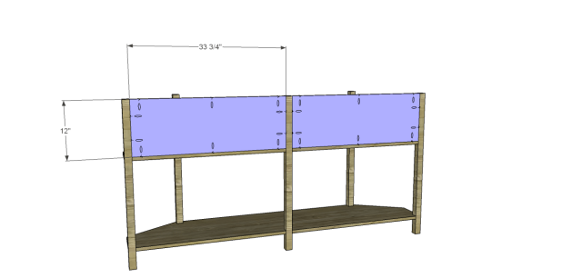 angled console table plans_Back