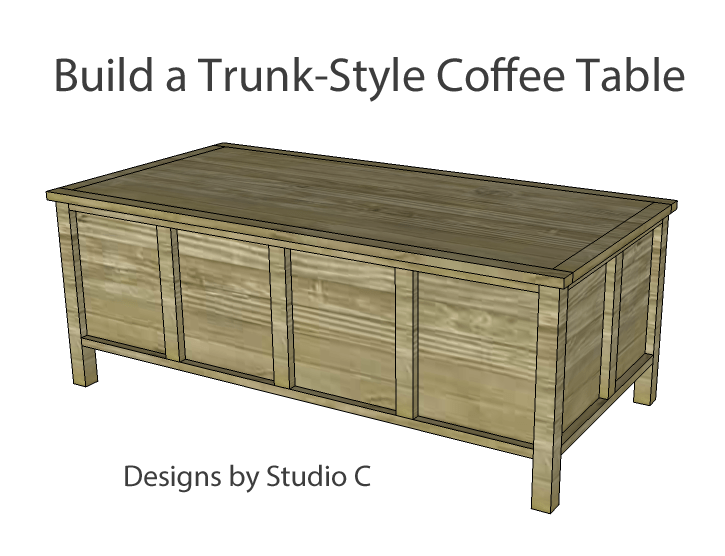 Build a trunk style coffee table designs by studio c - Trunk style coffee tables ...