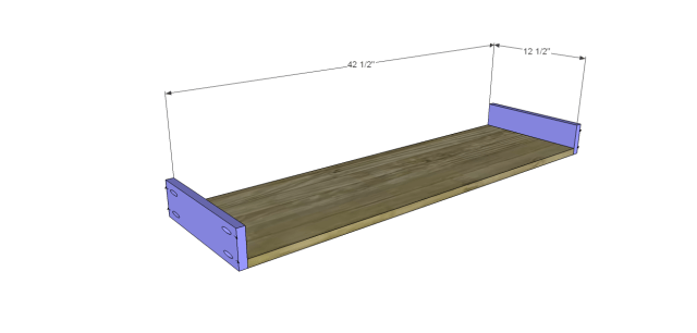 angled console table plans_Drawer BS