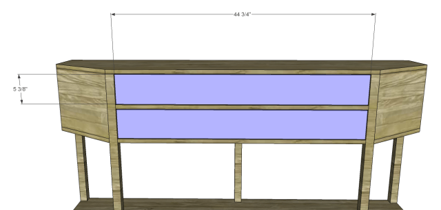 angled console table plans_Drawer Fronts