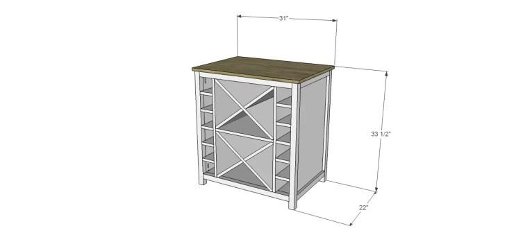 diy wine cabinet plans