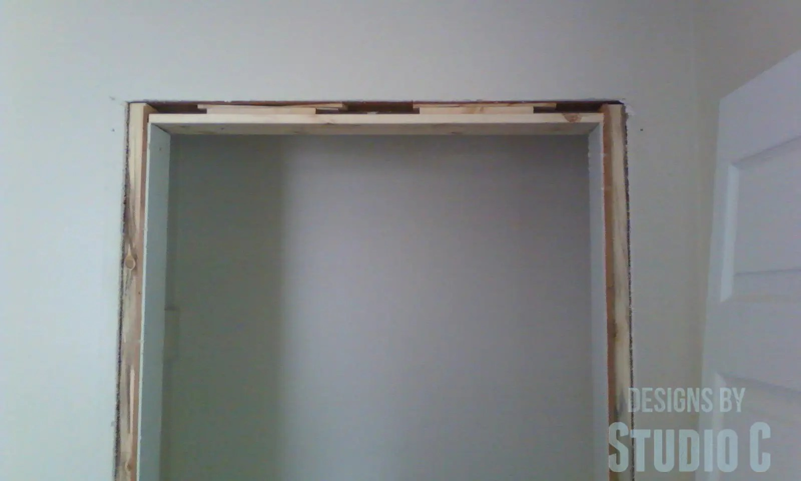 Building Up The Opening For Closet Doors