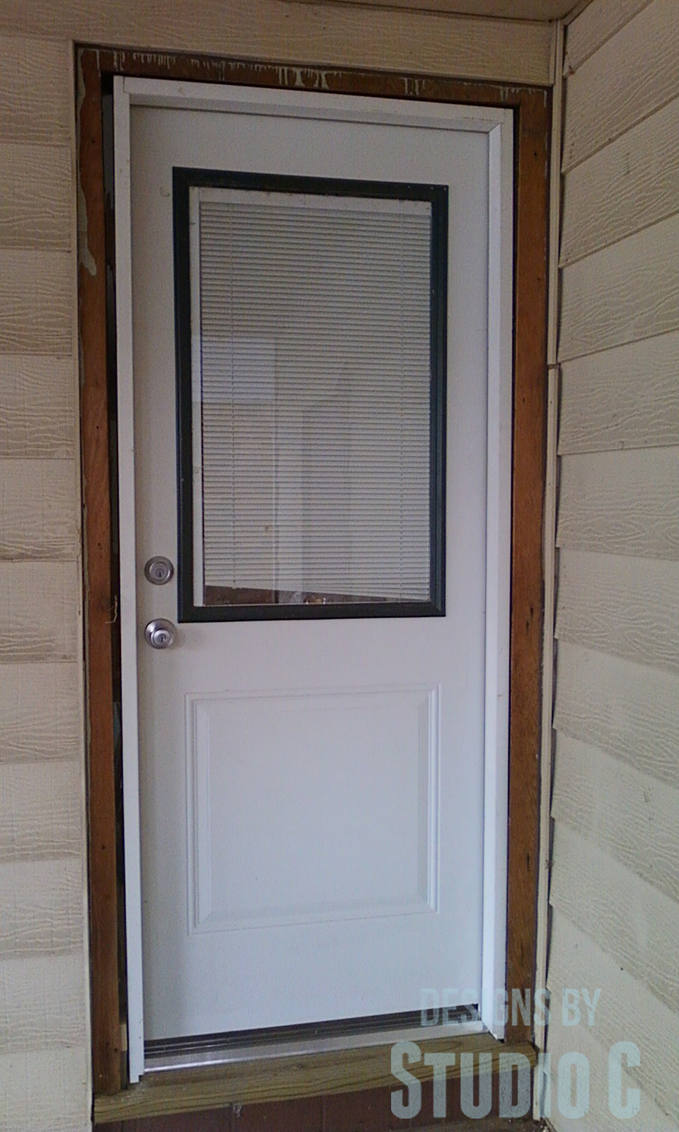 Replacing an exterior door designs by studio c for Entry door installation