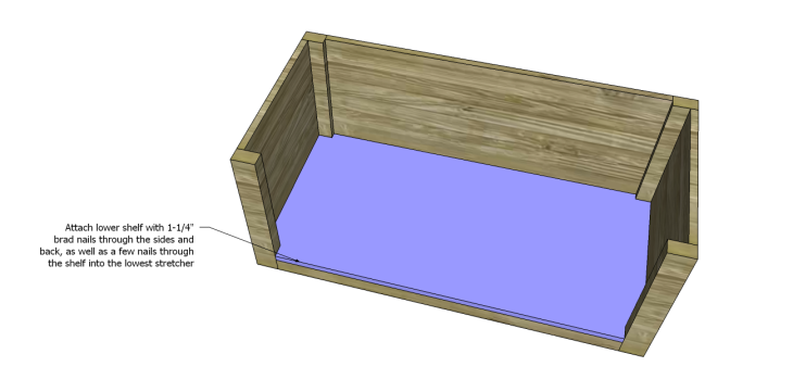coffee table plans with drawers_Lower Shelf 2