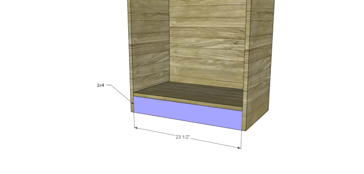 tall chest drawers plans_Lower Stretcher