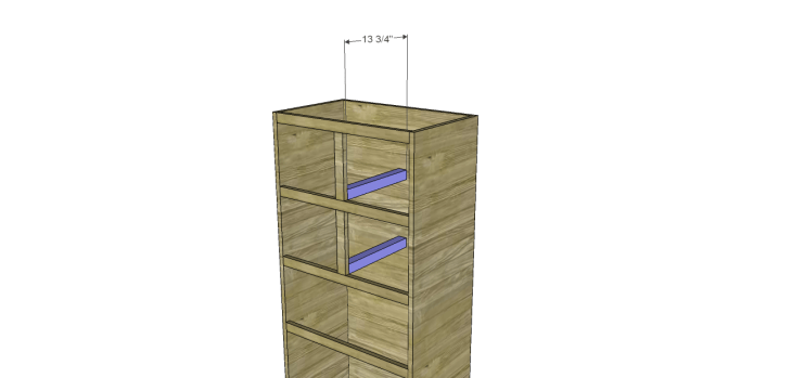 tall chest drawers plans_Spacers