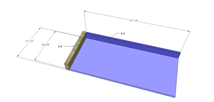 diy plans build desk_Pencil Drawer Base 1
