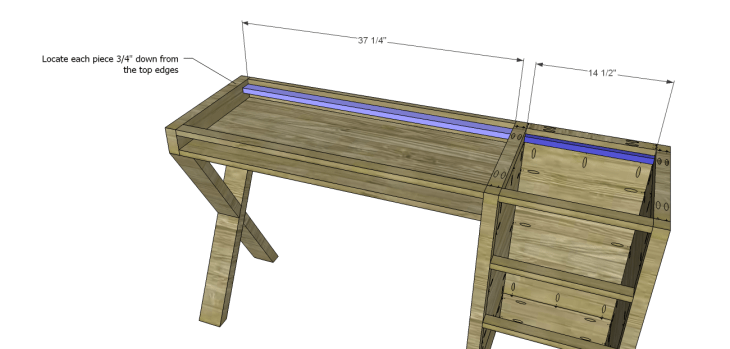 diy plans build desk_Top Support Ledge