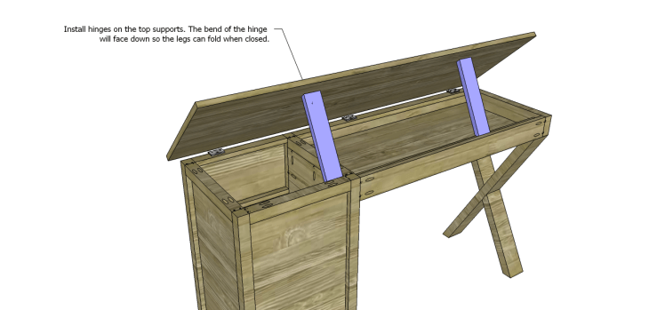 diy plans build desk_Top Supports 2