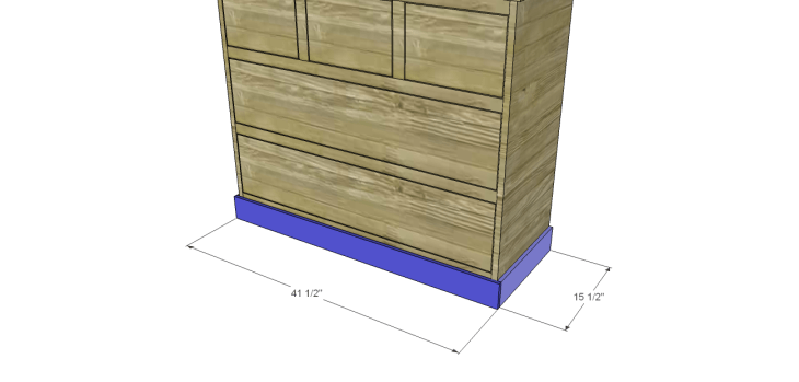 wide chest drawers plans_Trim