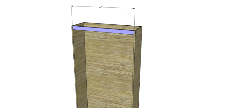 diy pantry armoire plans_Front Stretchers