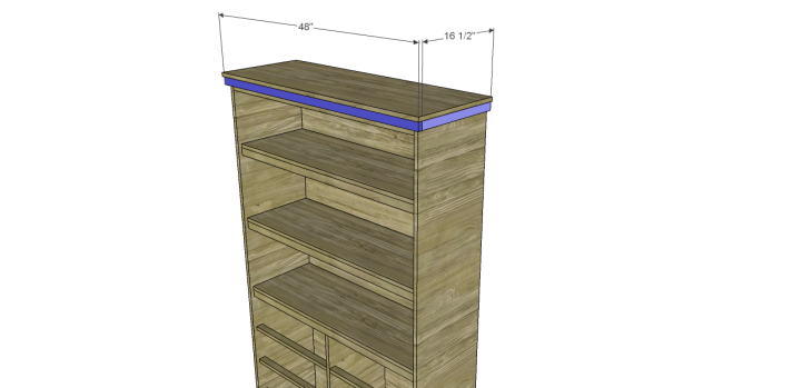 diy pantry armoire plans_Top Trim