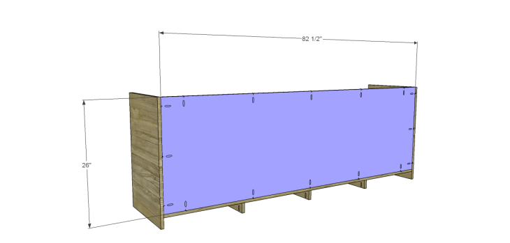 plans build large stately bookcase_Lower Back