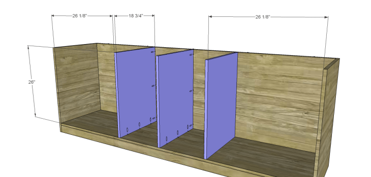 plans build large stately bookcase_Lower Dividers
