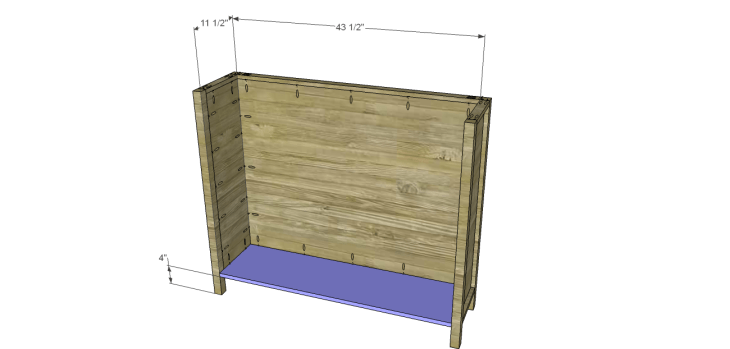 yvette console table plans_Lower Shelf
