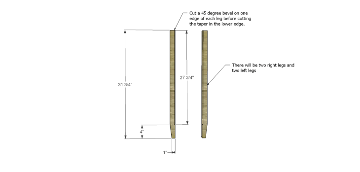 diy three-drawer dresser plans_Legs