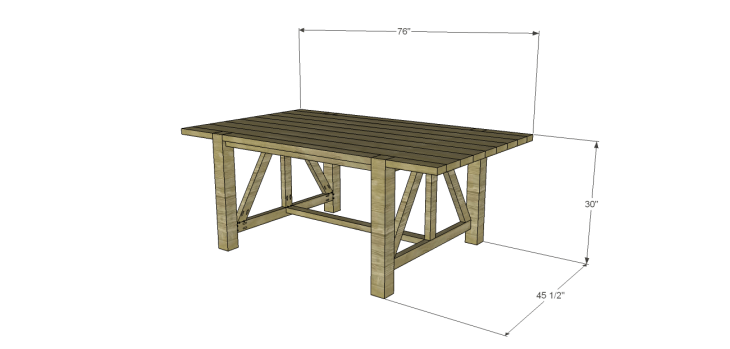 castleton dining table plans