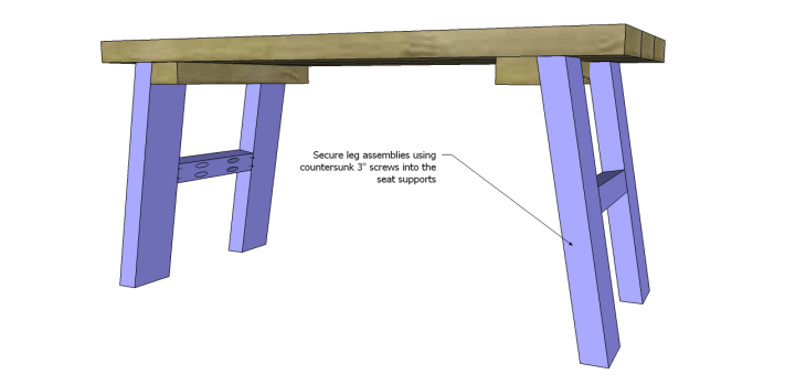 free furniture plans build rustic bench_Legs 2