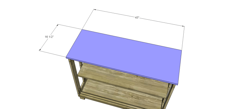 free furniture plans build pacific kitchen island_Top
