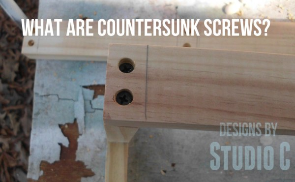 how to countersink screws SANY2882