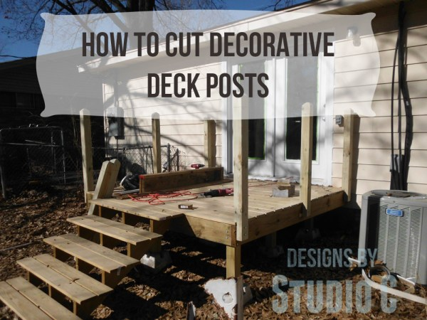 how to cut posts for deck SANY2939