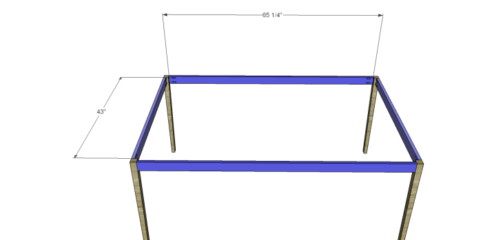 free furniture plans build elongated hexagon table_Aprons