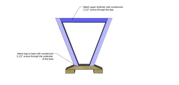 astor end table plans_Legs & Upper Stretcher 2