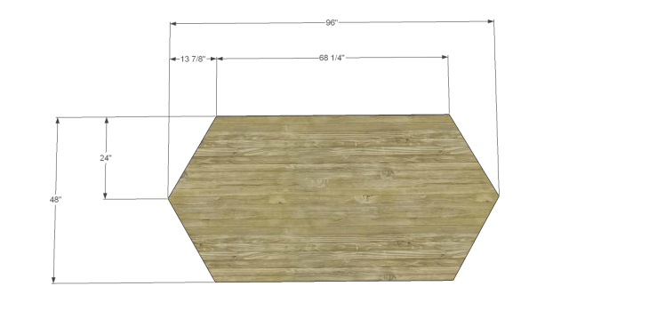 free furniture plans build elongated hexagon table_Top 1