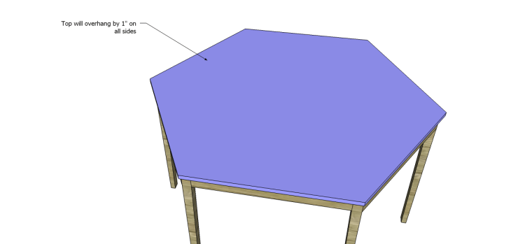free furniture plans build hexagon dining table_Top 2
