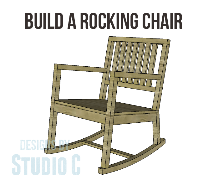 Build a rocking chair designs by studio c for Rocking chair design plans