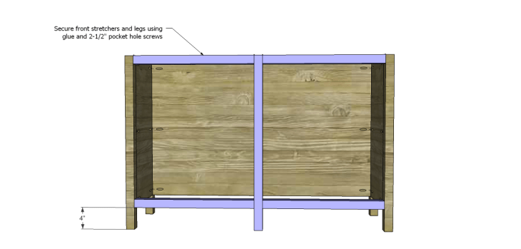 roxbury sideboard plans_Front Leg & Stretchers 2
