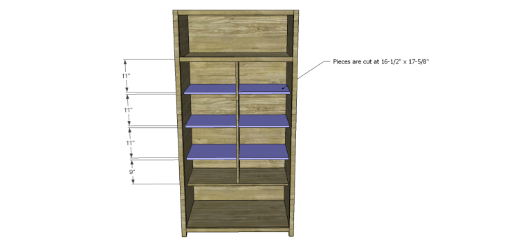 plans build alans larder cabinet_Smaller Shelves