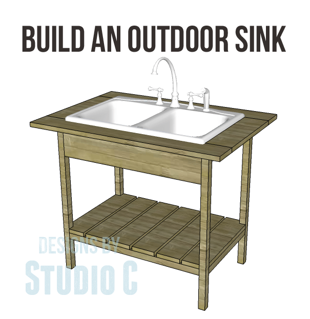 Build an outdoor sink part one designs by studio c for Outdoor kitchen sink