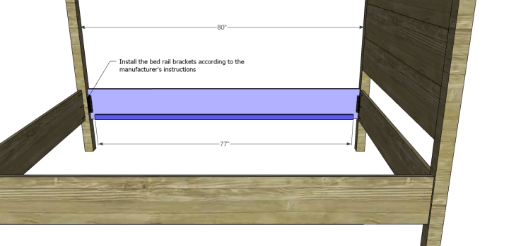 timberland queen bed plans-Side Rails