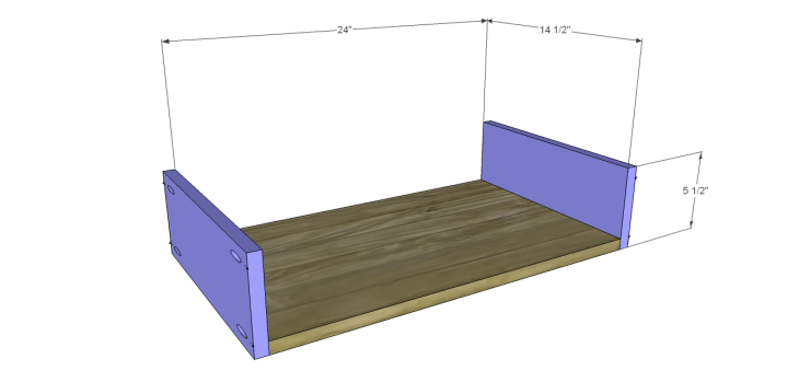 plans build esmerelda buffet-Center Drawer BS