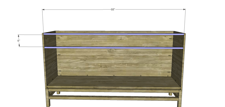 plans build esmerelda buffet-Front Stretchers
