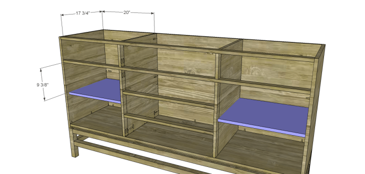 plans build esmerelda buffet-Shelves