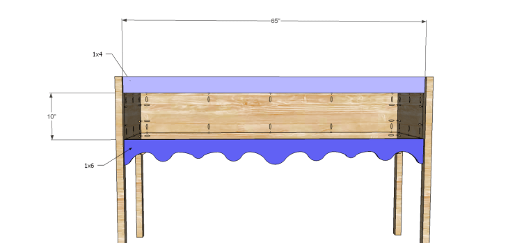 Homestyle sideboard plans-Front Stretchers