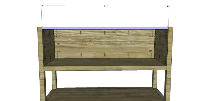 ronen sideboard plans-Upper Stretcher