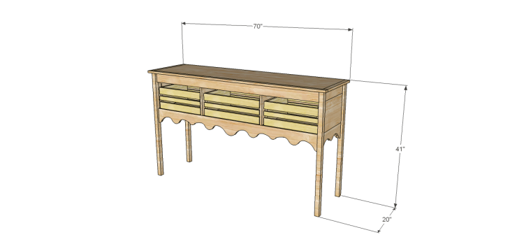 Homestyle sideboard plans