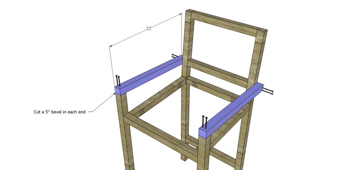 Plans to Build a Barstool with Arms_Arms